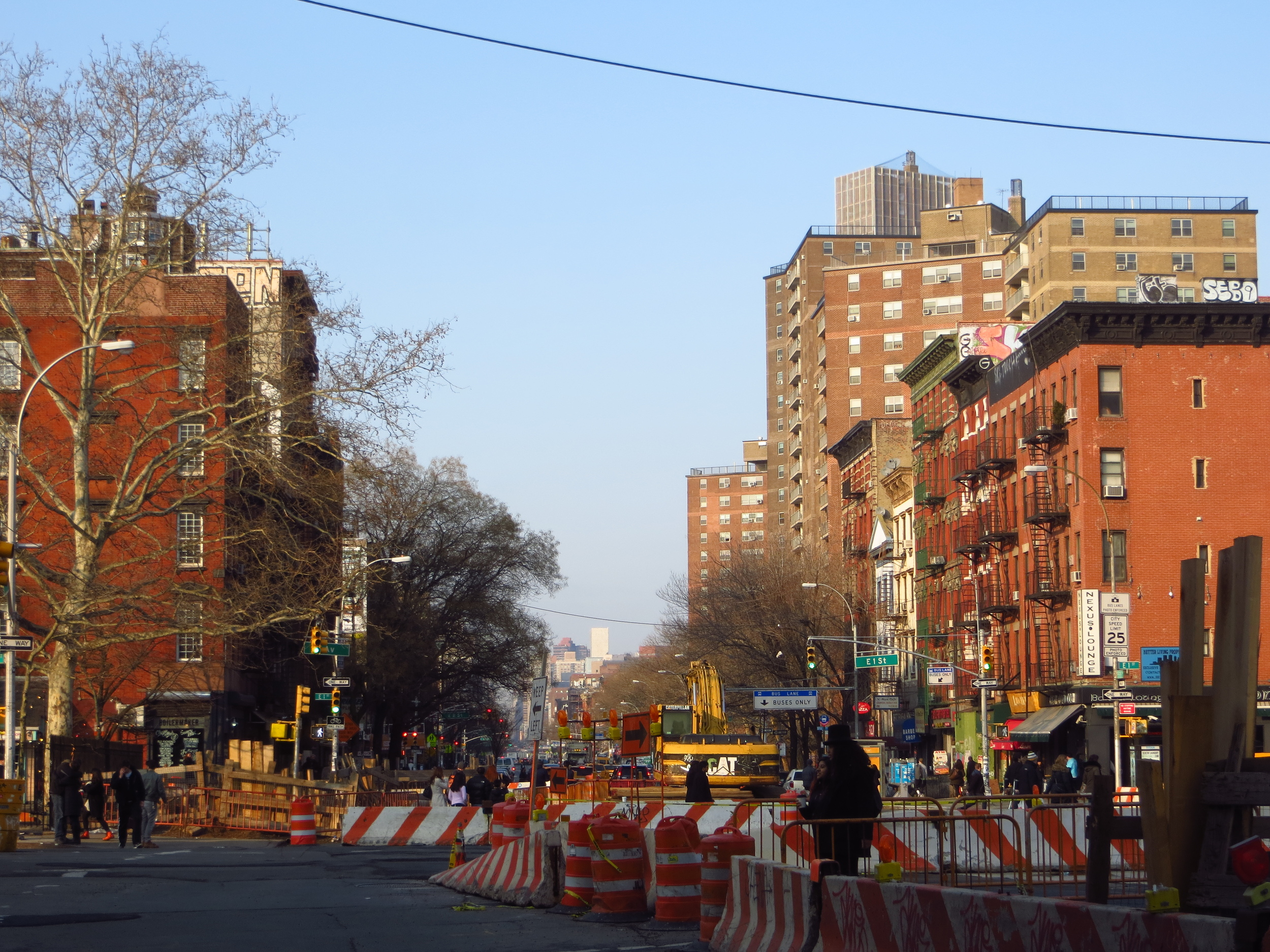 View up 1st Ave.