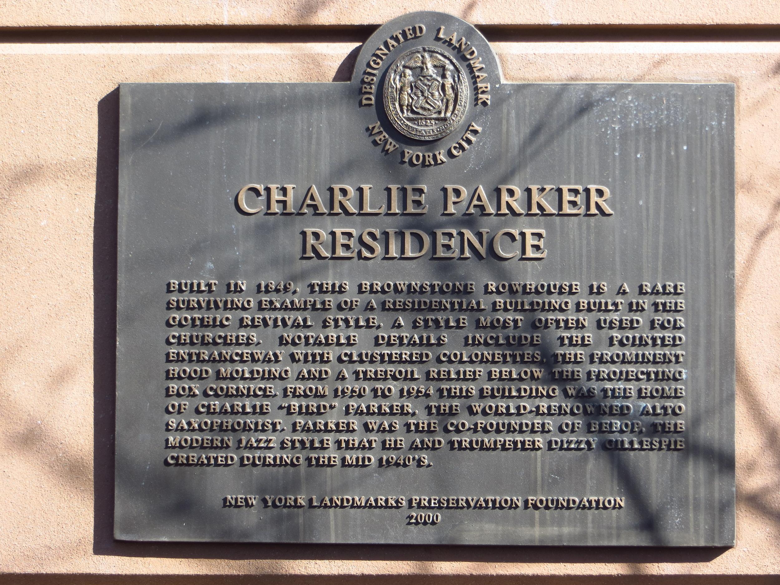 Former home of Charlie Parker