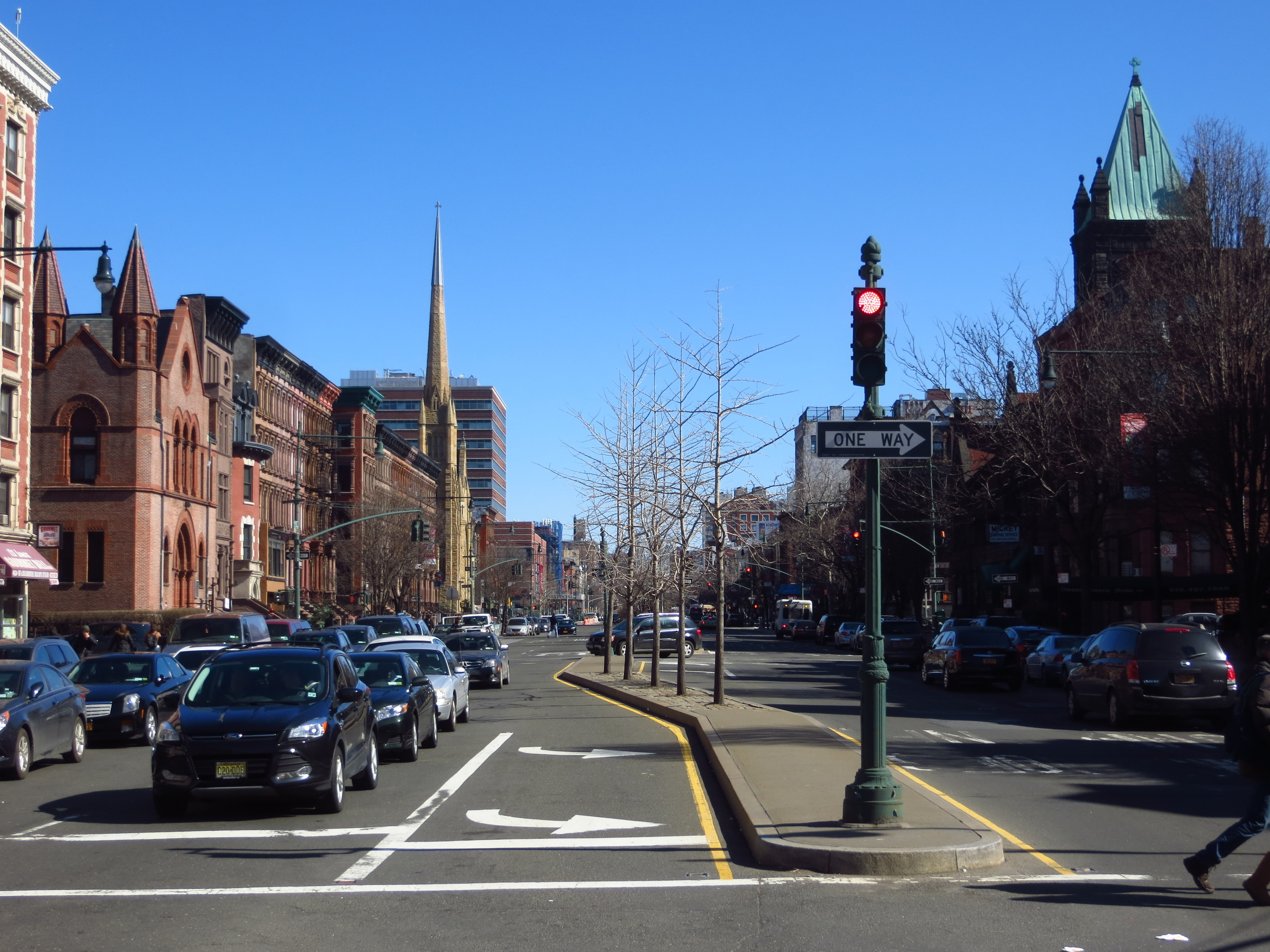 View up Lenox Ave.