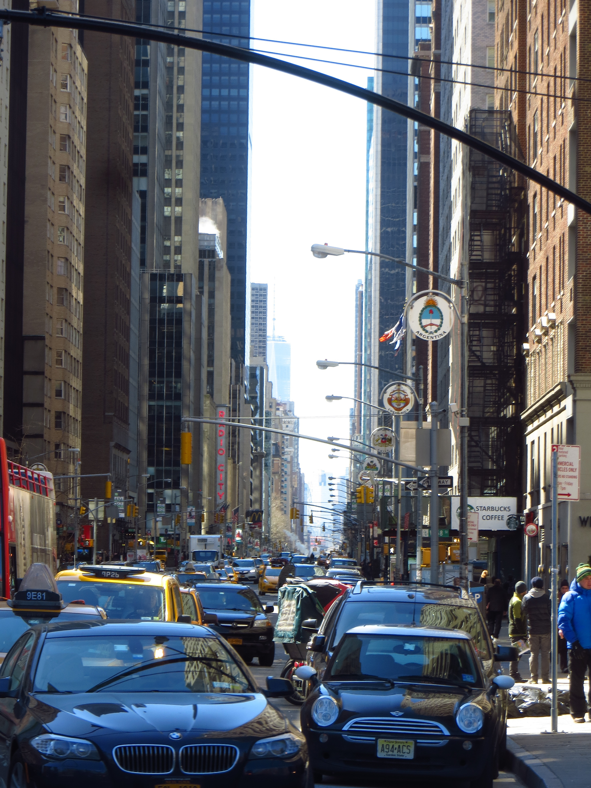 View down 6th Ave.