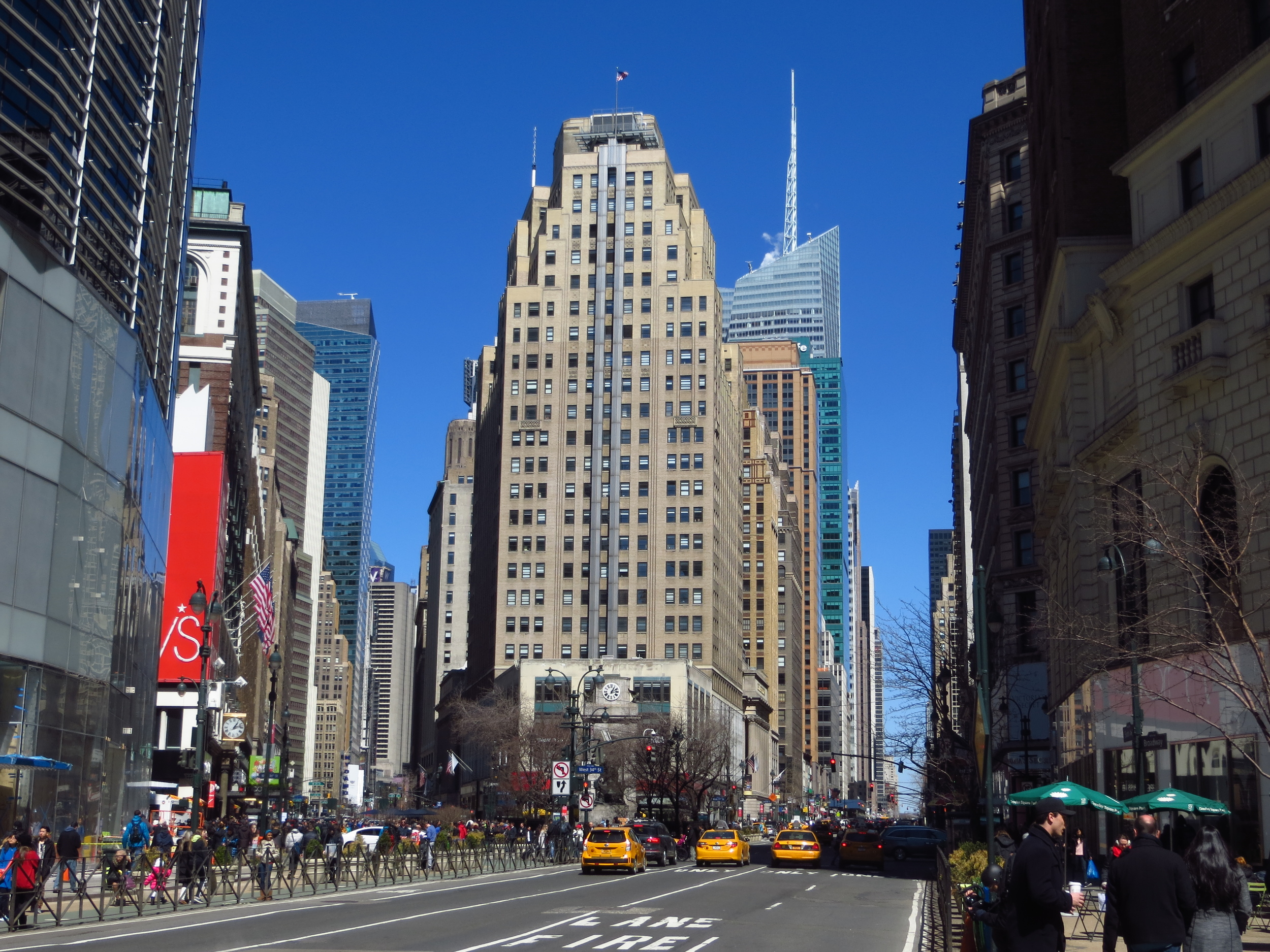 View up 6th Ave. from Herald Square