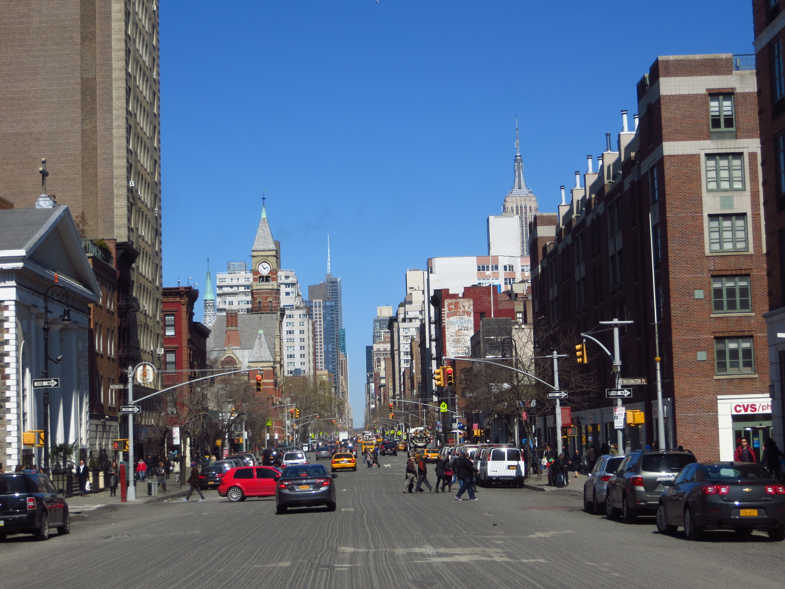 View up 6th Ave.