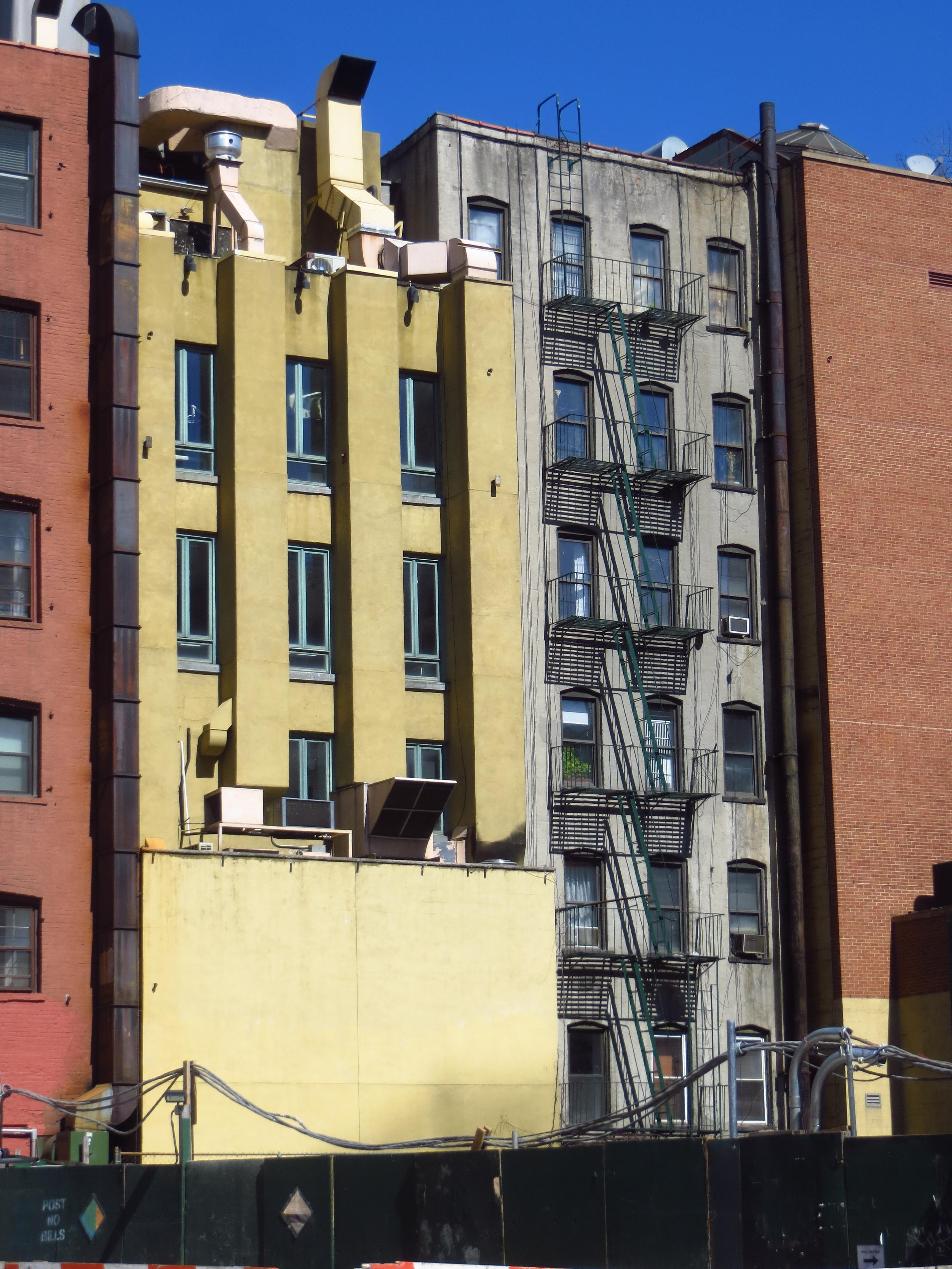 Back of buildings