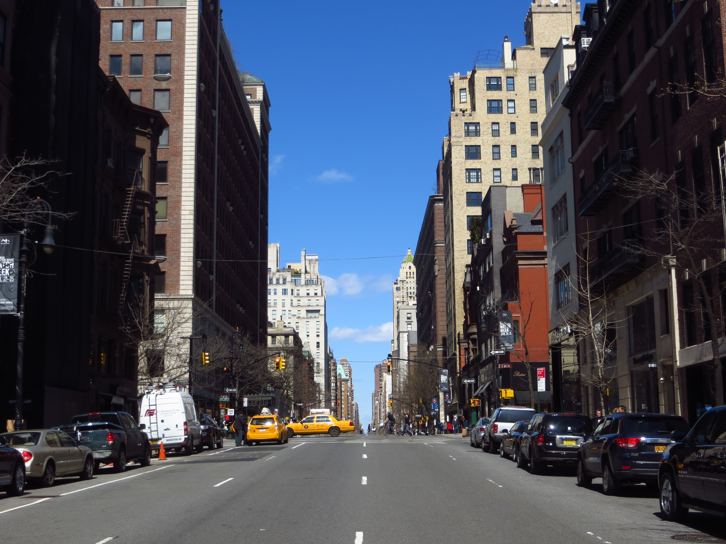 View up Madison Avenue