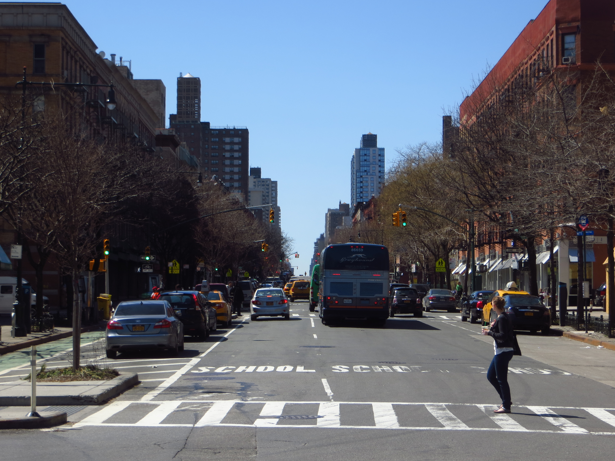 View down Columbus Ave.