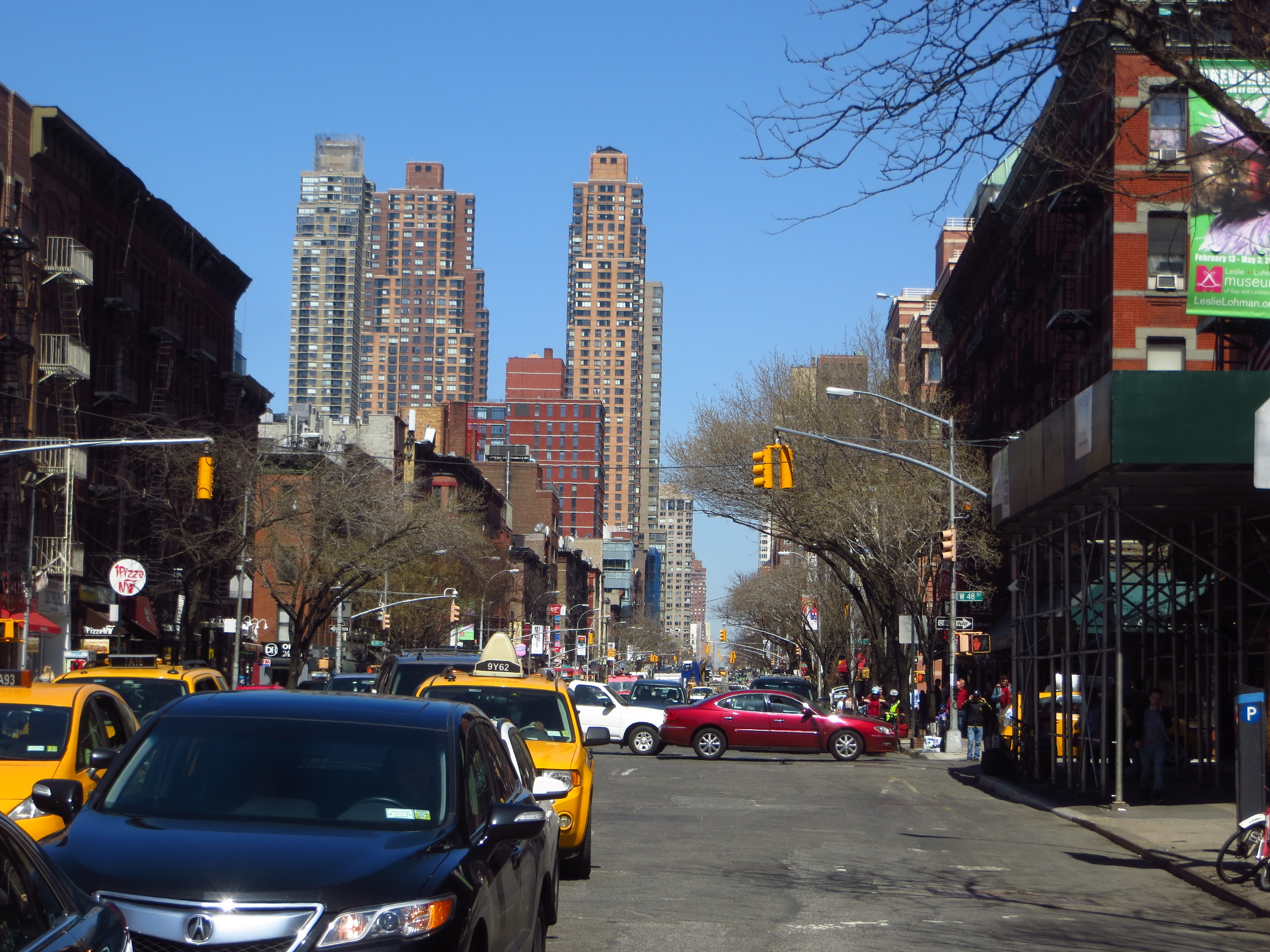 View up 9th Ave.