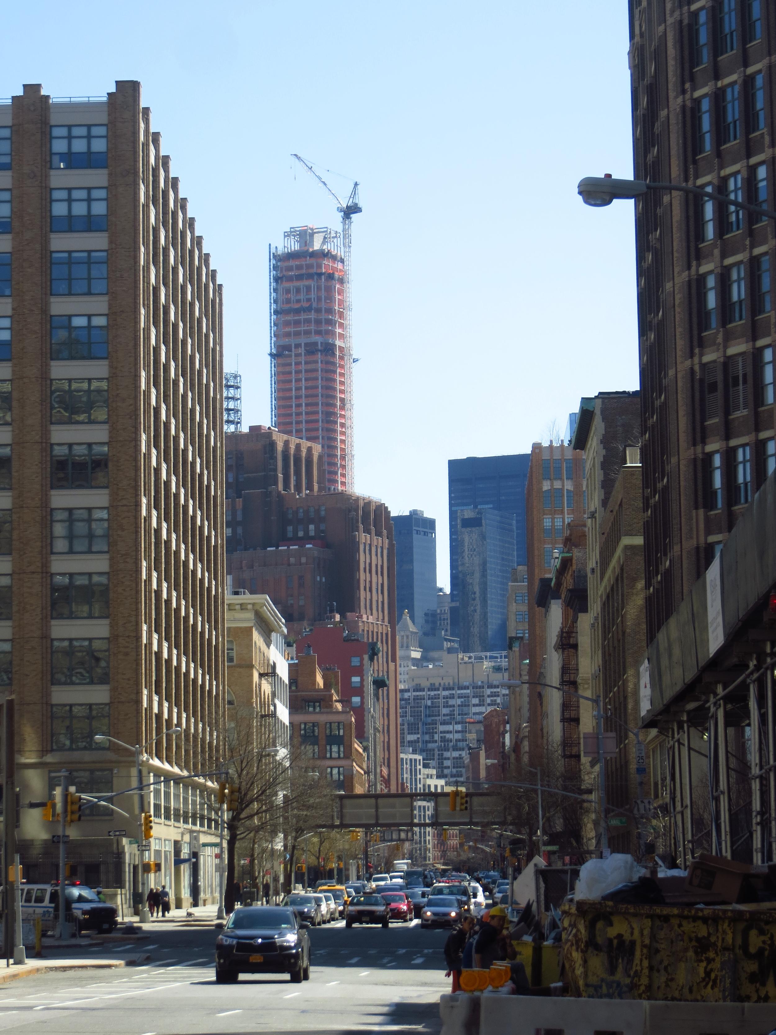 View down Hudson St.