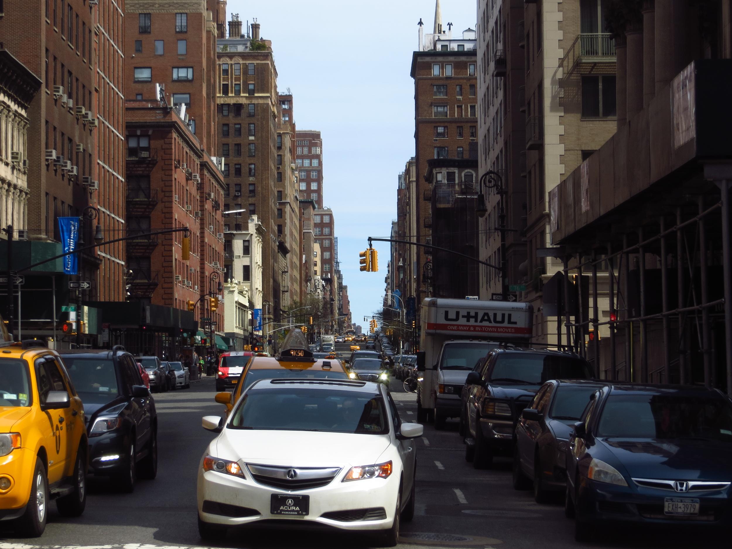 View up Lexington Avenue