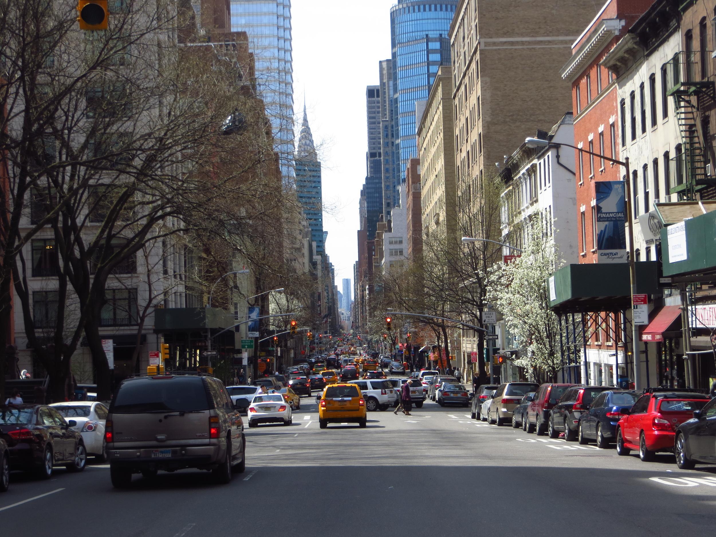 View down Lexington Avenue
