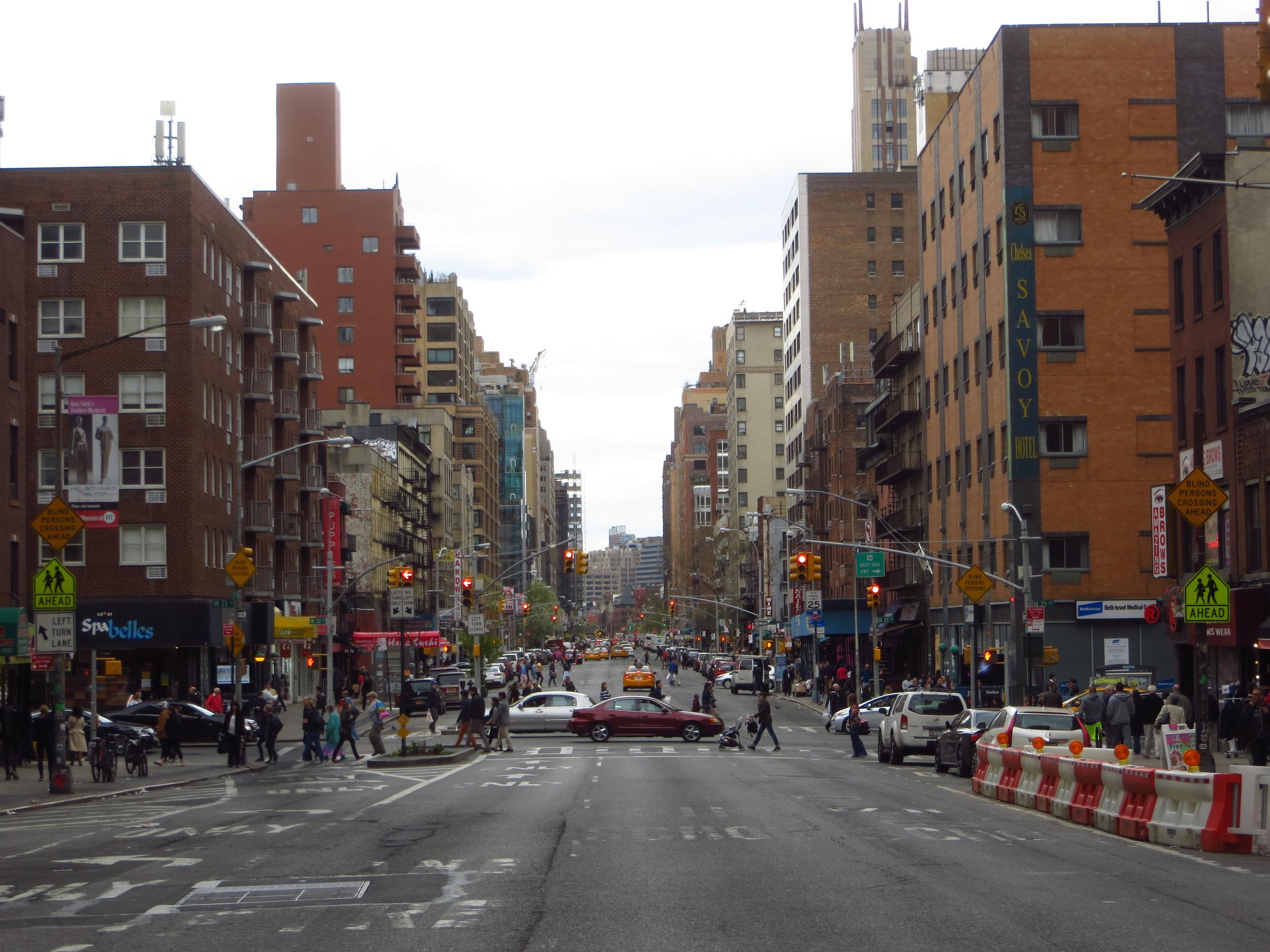 View down 7th Avenue