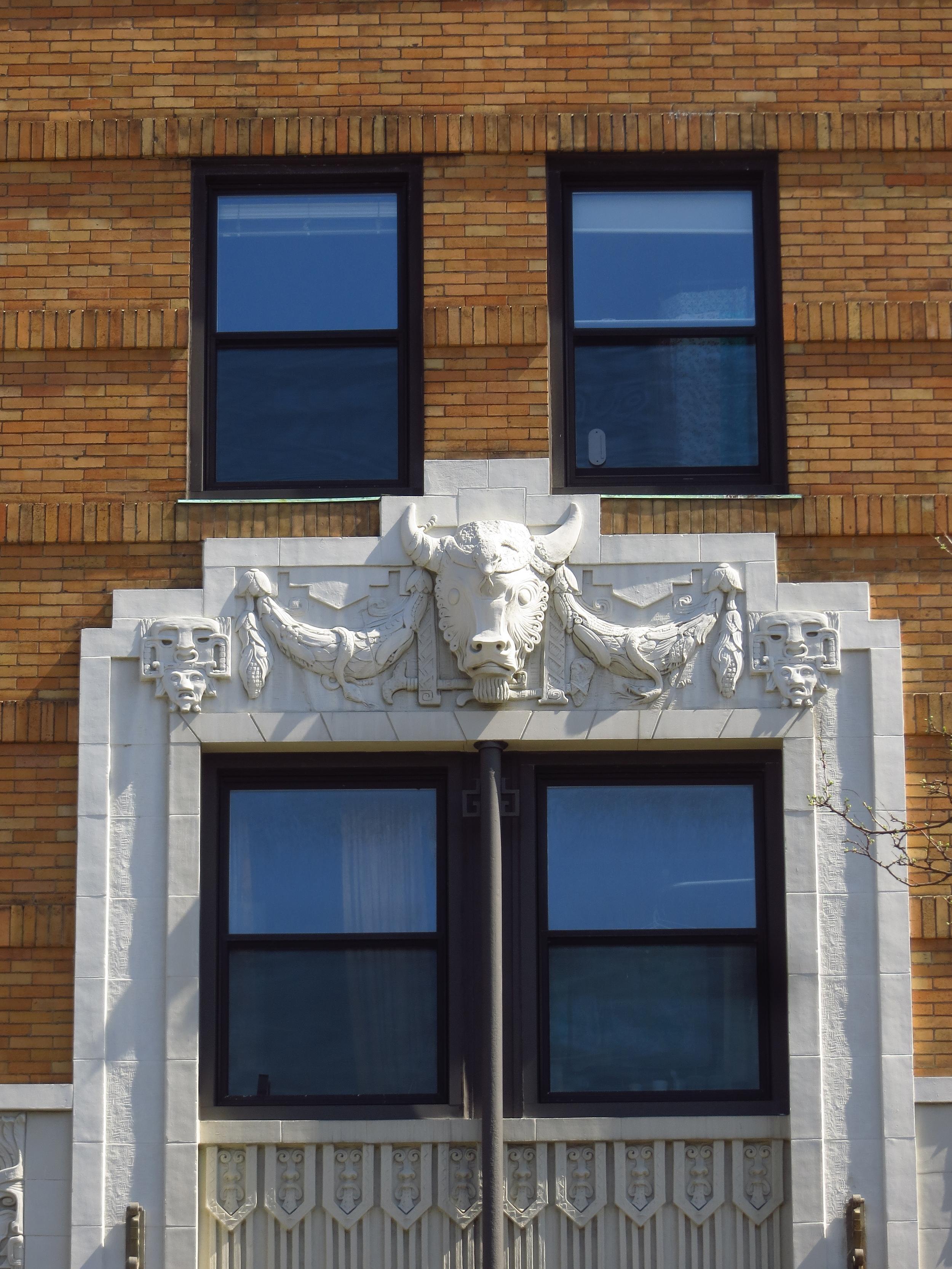 This building had a Buffalo head,