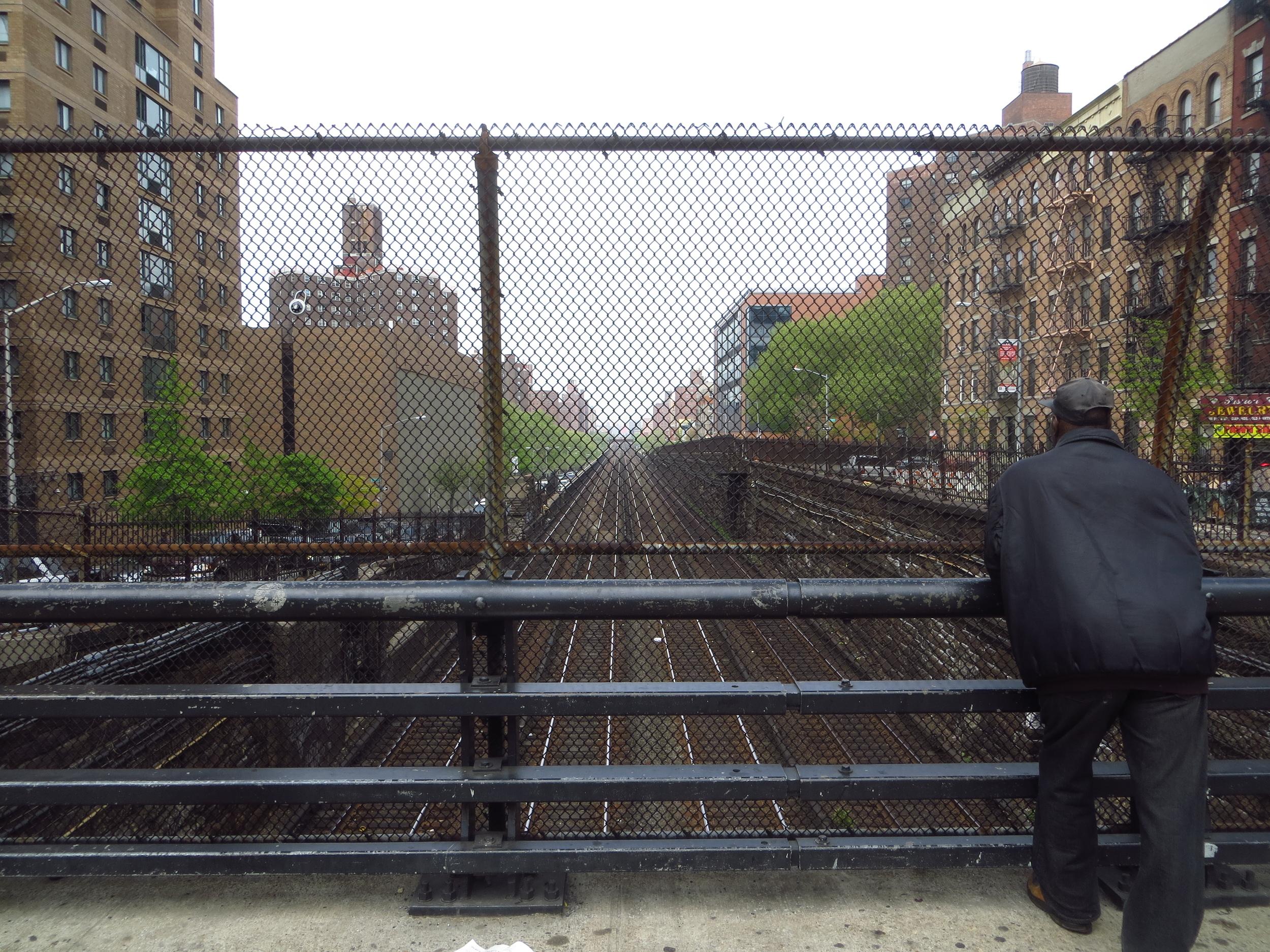 Train tracks heading into Grand Central