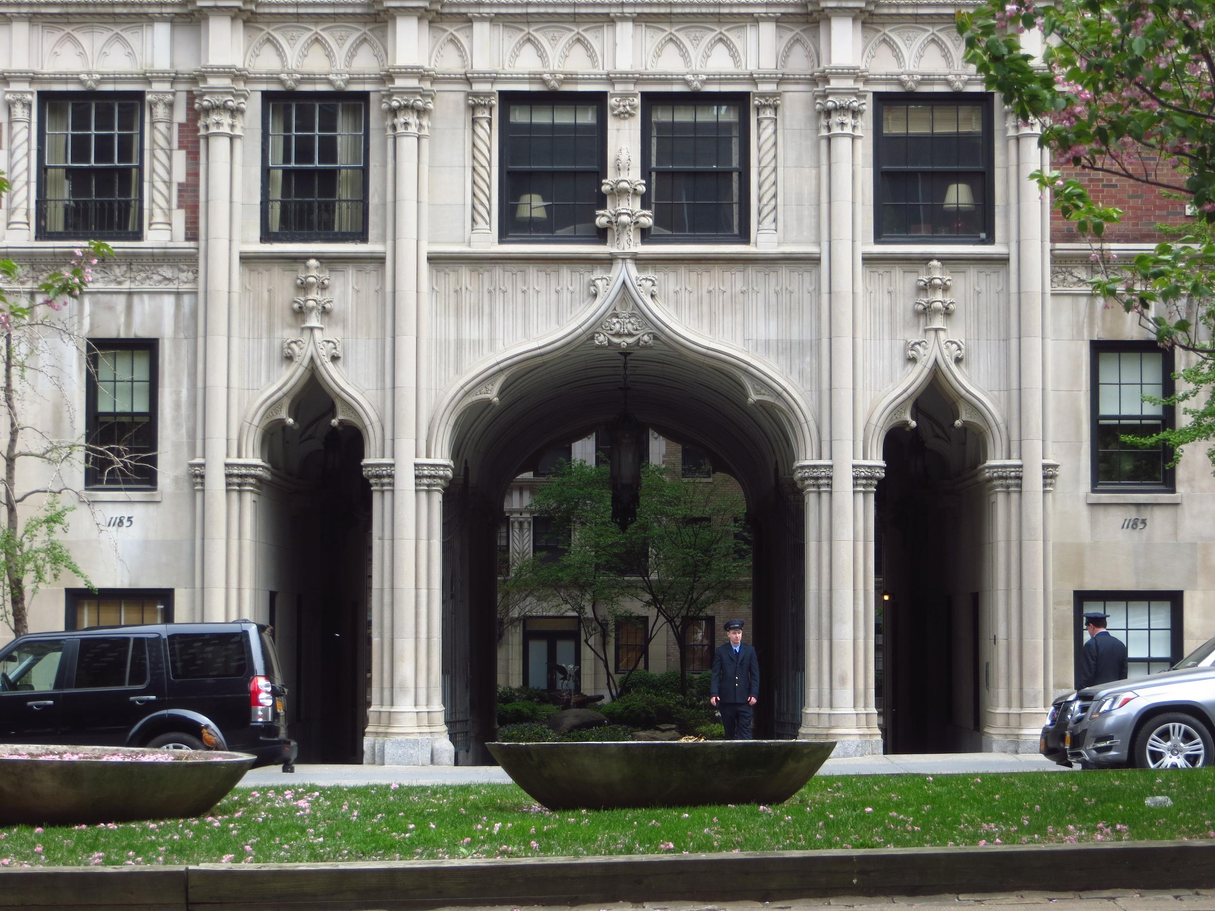 Park Avenue apartment entrance