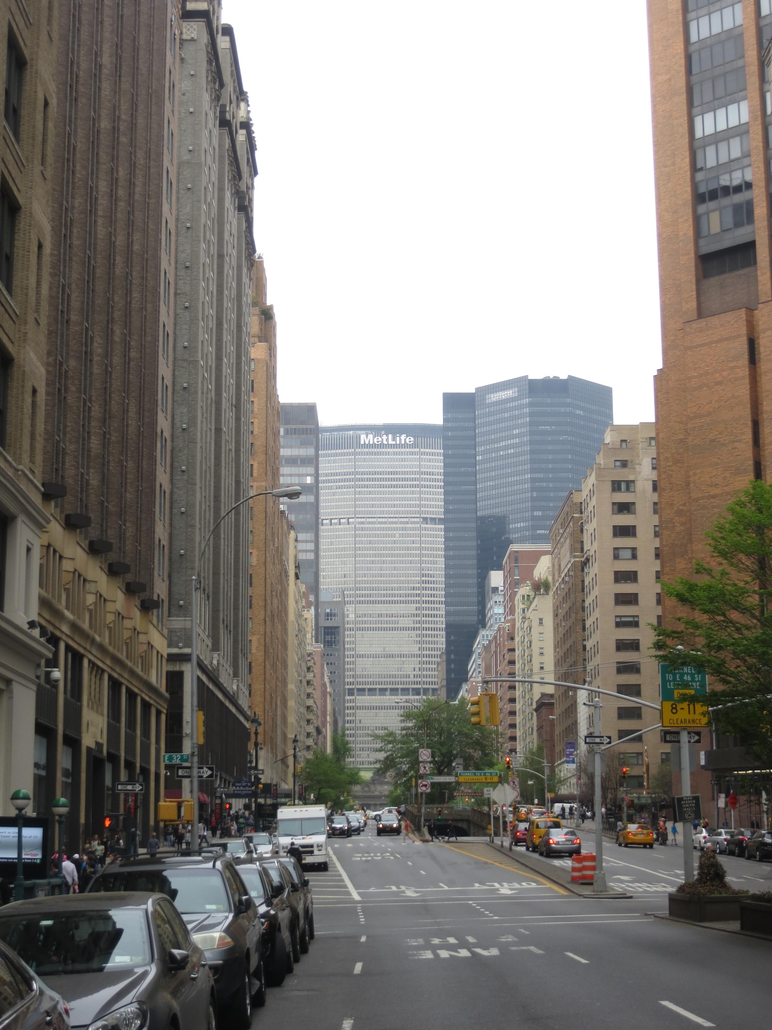 View up Park Avenue