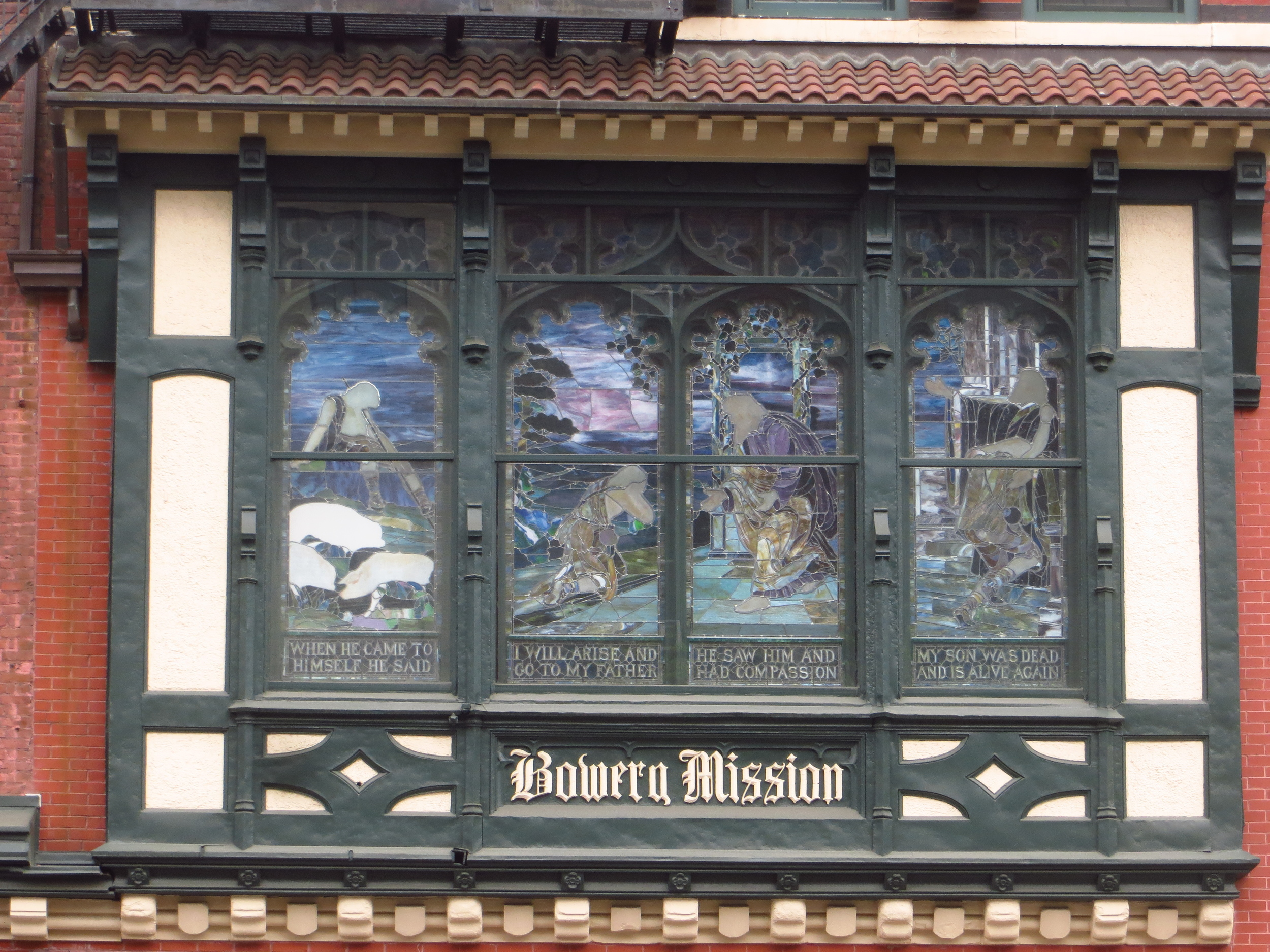 Bowery Mission window