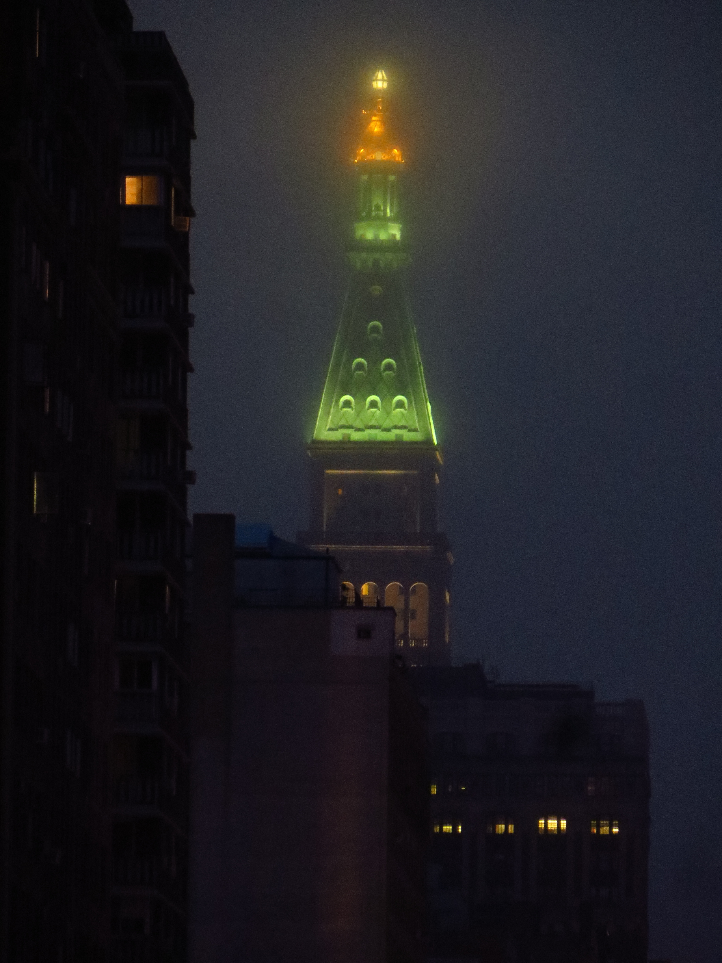 Met Life Tower though the fog