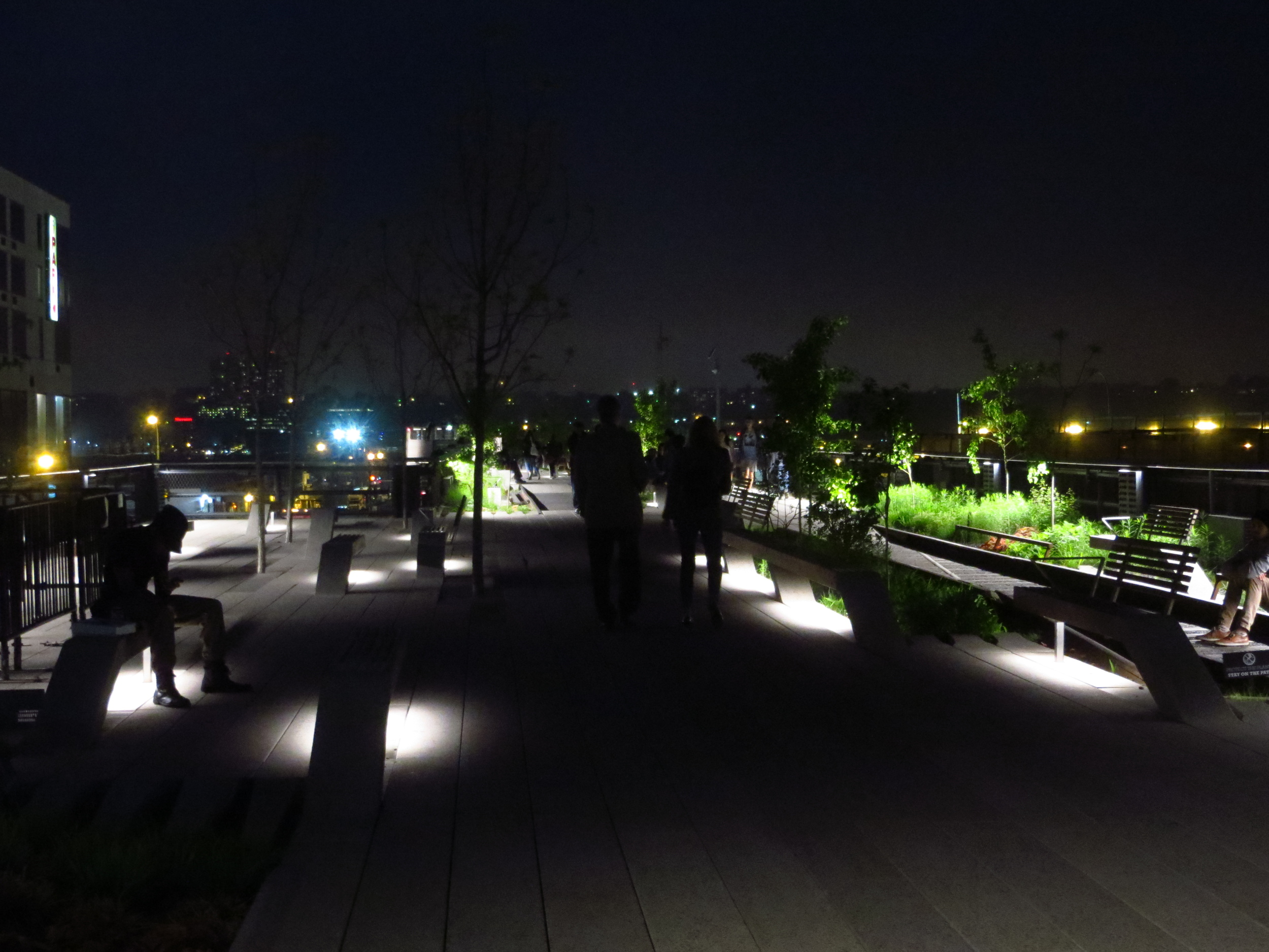 More lit benches