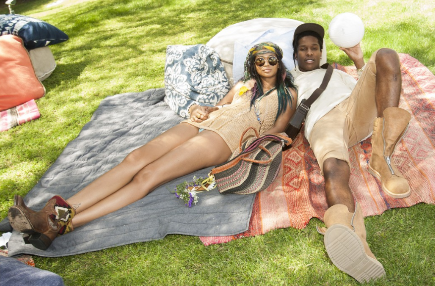 Chanel Iman and A$AP Rocky