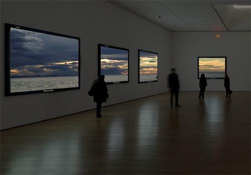 Real windows framed as T.V screens (Project) , Ibon Mainar (2014)