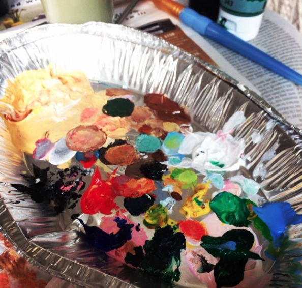 chipotle tin or paint palette? you decide.