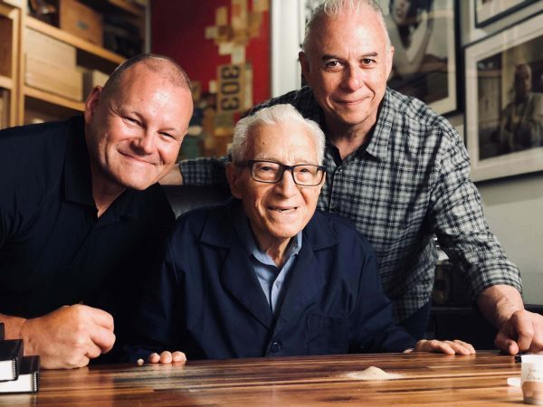 L to R: Creative Director Jeff Griffith, Photographers Tony Vaccaro and Jim Salzano at Tony's New York studio.
