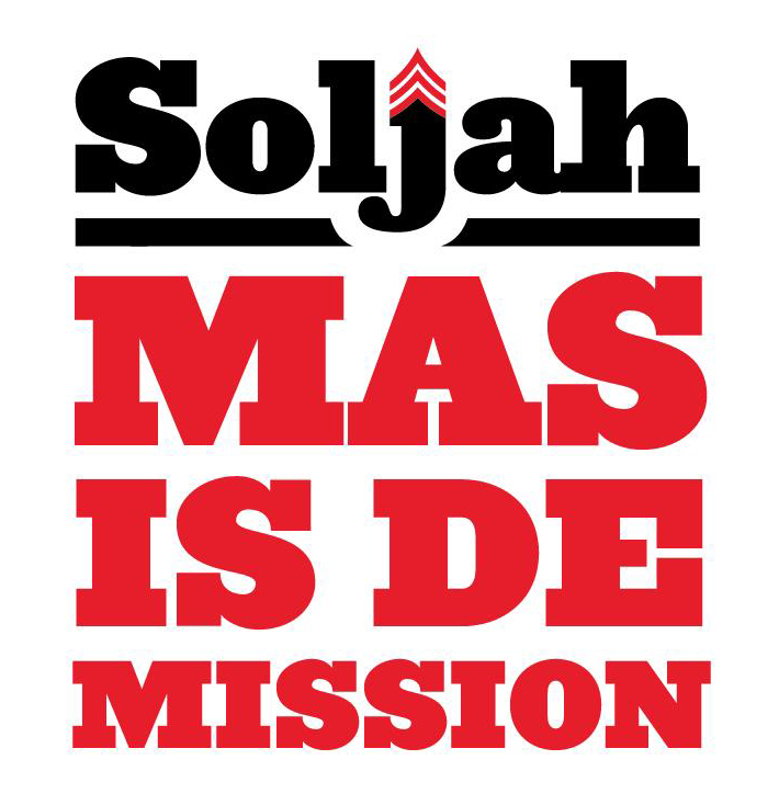 Type treatment for Soljah's debut album: Mas is De Mission