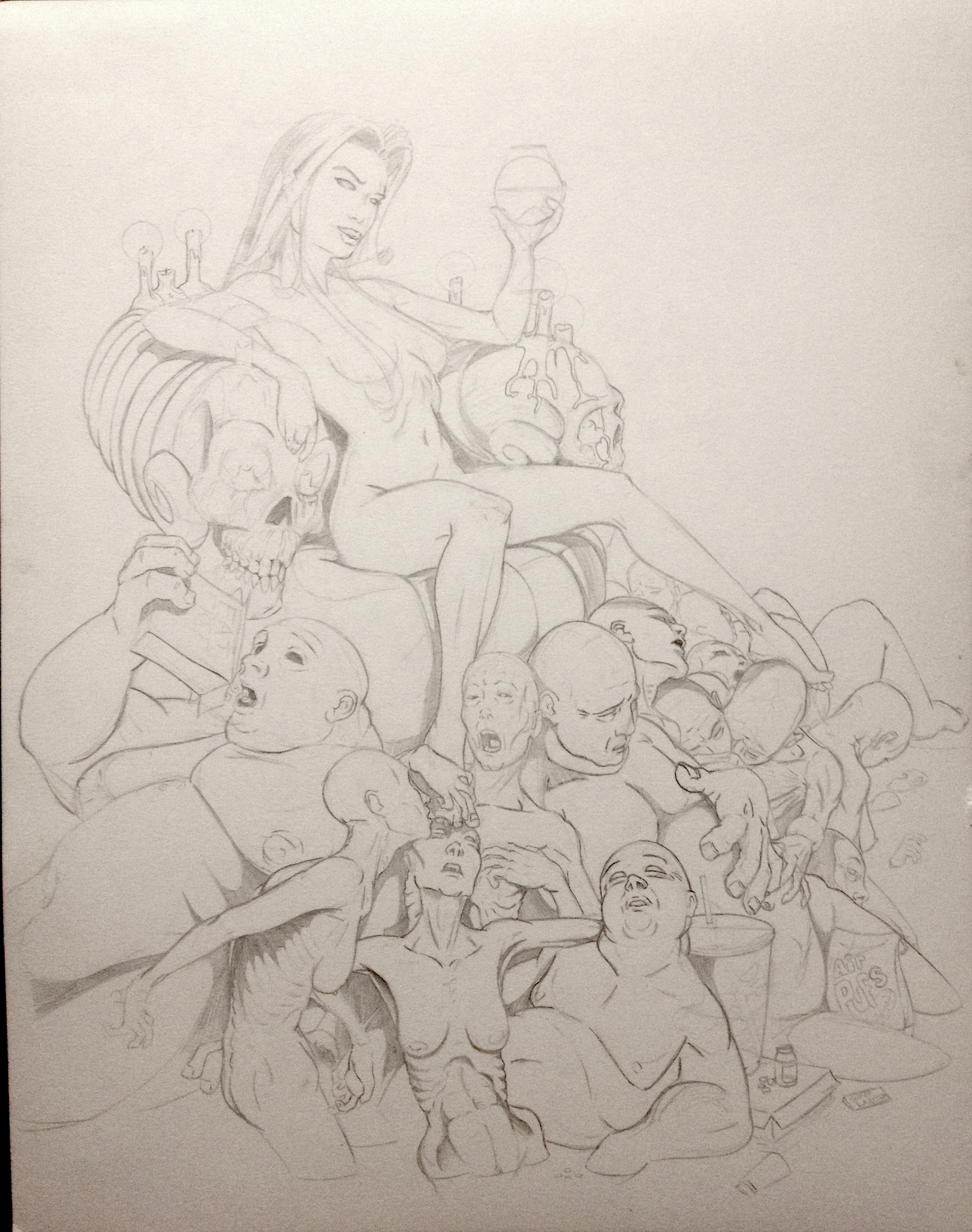 Unfinished Sketch of a Sin Gluttony