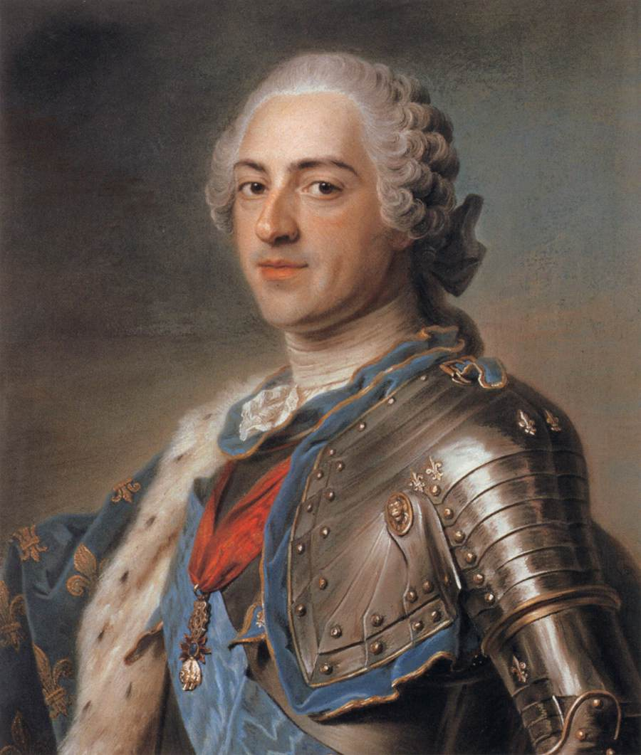 18th century King Louis XVI loved his powder and wigs.