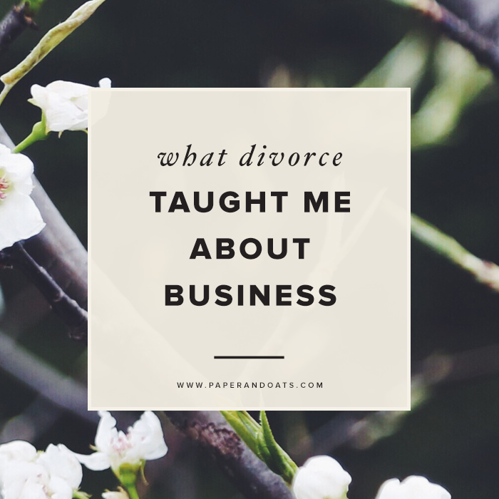 Paper + Oats | What divorce taught me about business