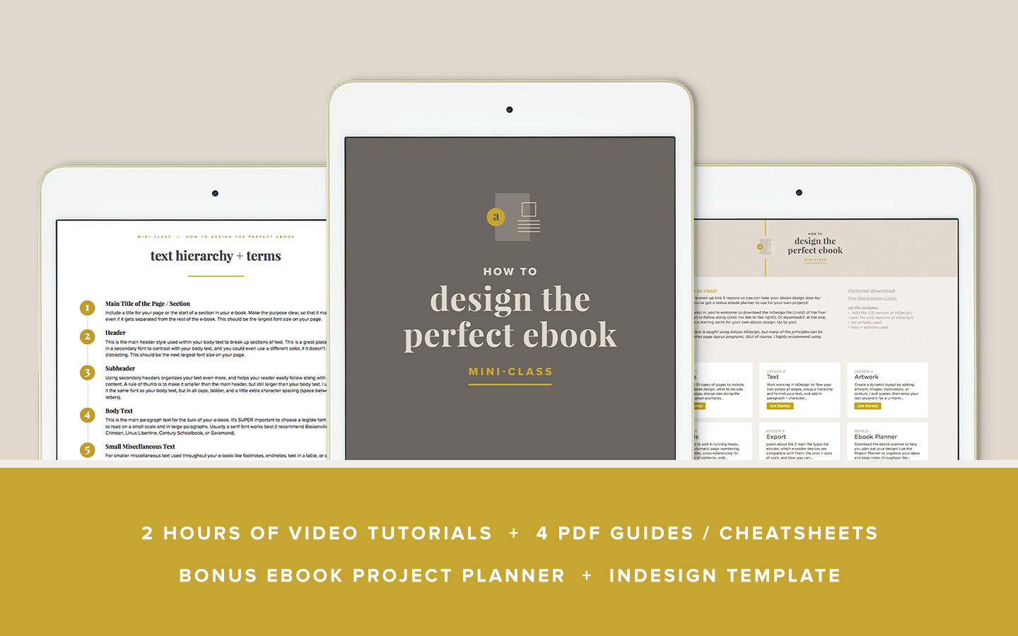 How to Design the Perfect Ebook –mini class by Paper + Oats