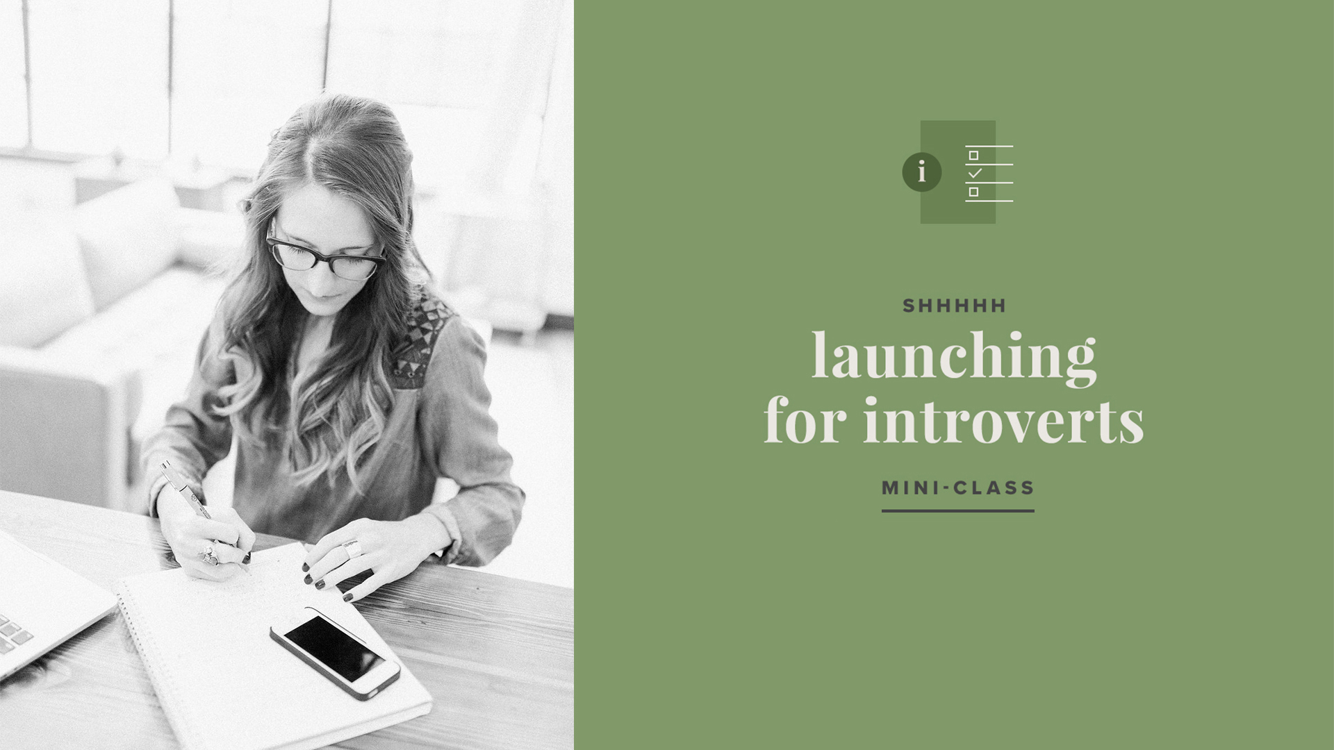 Launching for Introverts –mini class by Paper + Oats