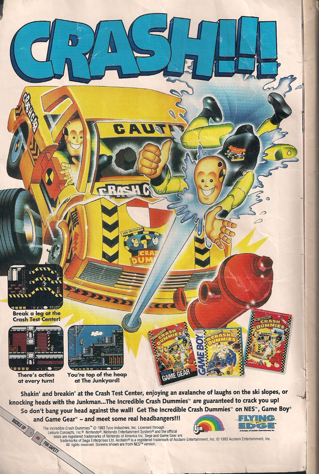 Bet you forgot that the Crash Test Dummies had a video game