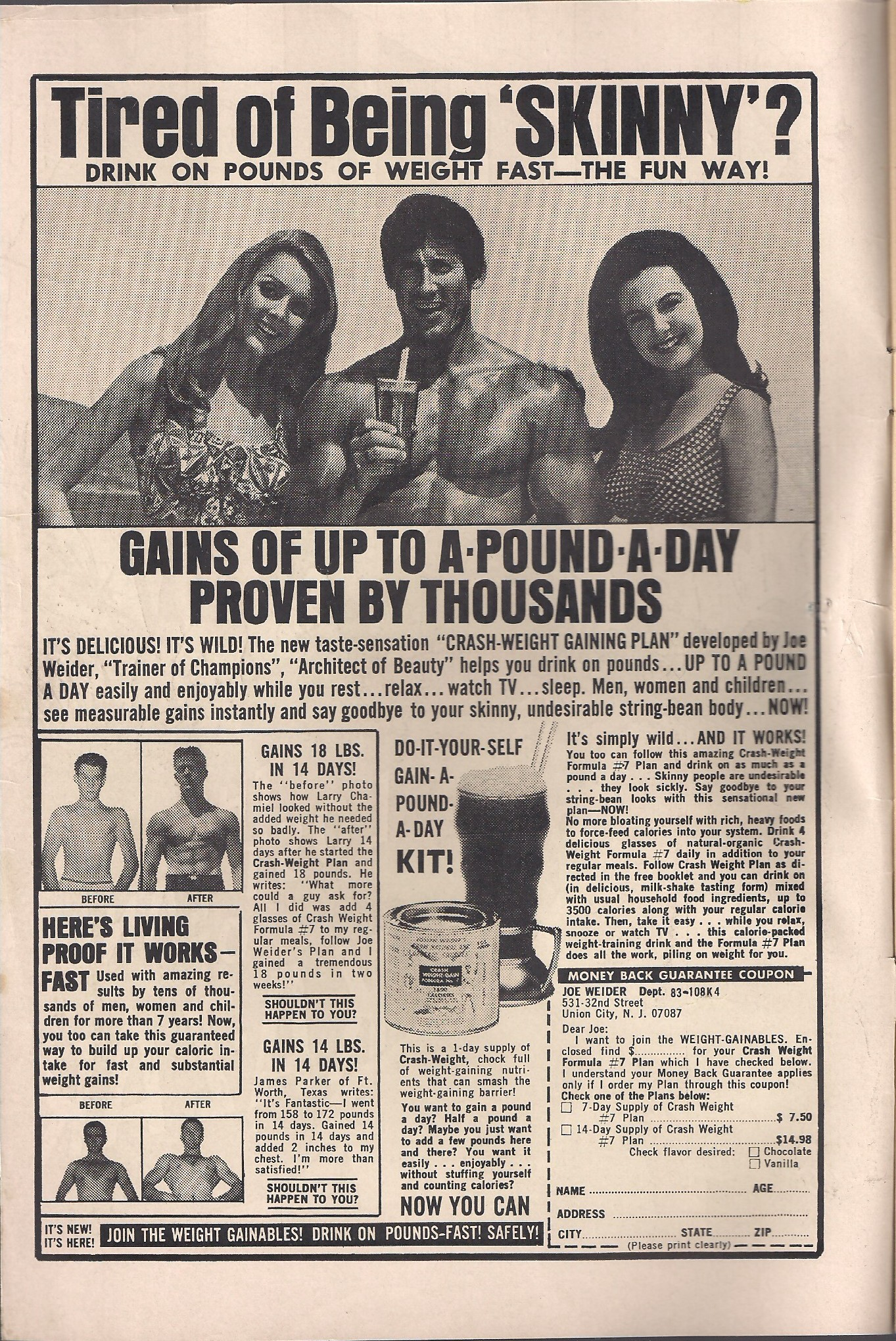 Ah, the '60's, where people were tired of being skinny.