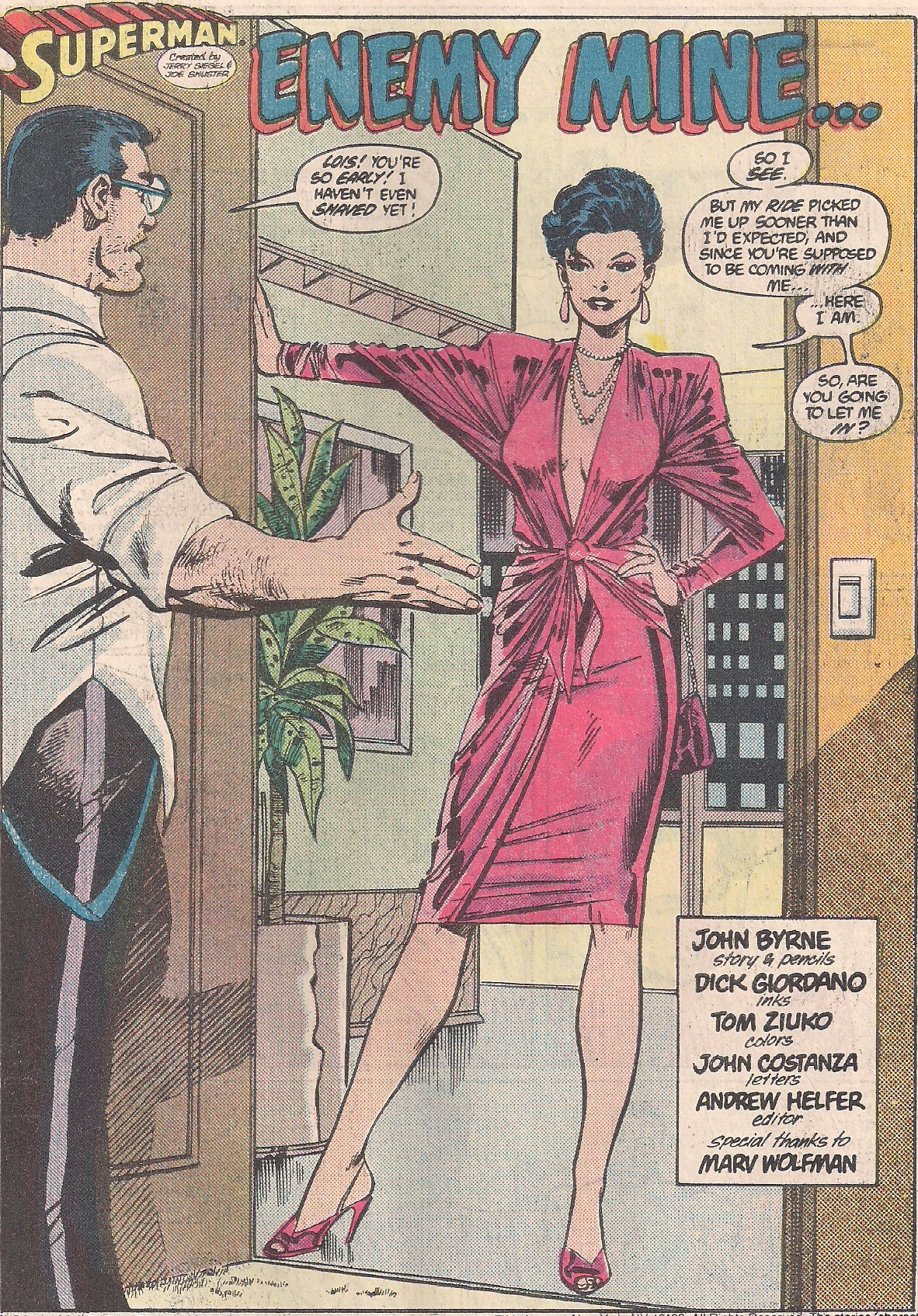 Lois knows how to make an entrance.
