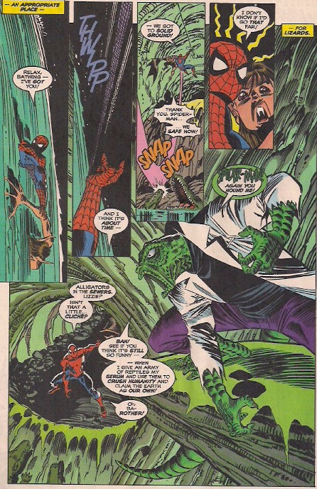 I love how Lizard is drawn the way he was in the early issues.