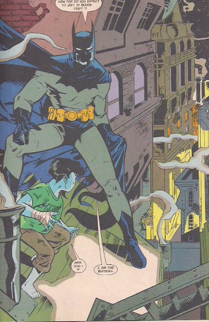 The first meeting between Batman and Robin!
