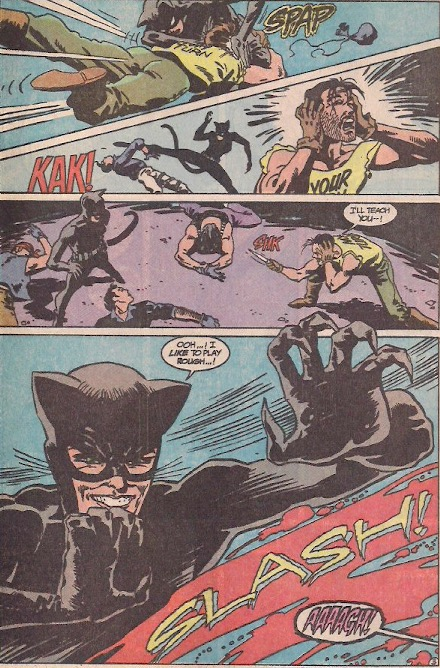 I really like Catwoman's costume in this issue.