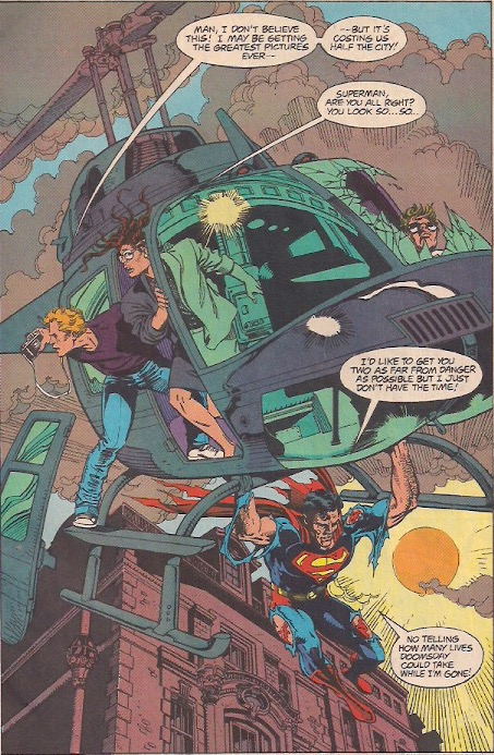 Nevermind, Zack Snyder would never have Superman save people
