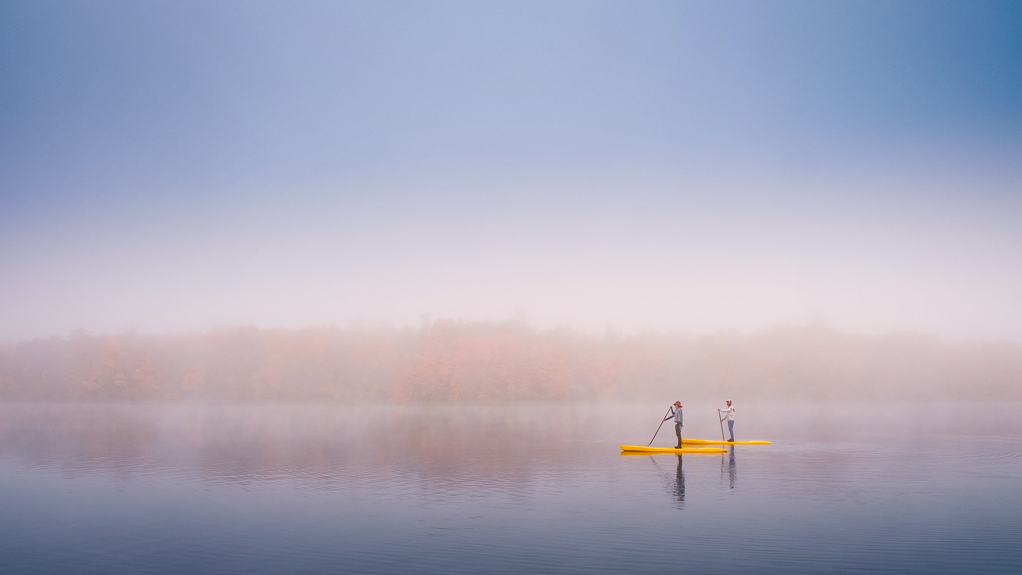 Standup Paddleboarding on Lake Carlos • photographed for Explore Alexandria Tourism