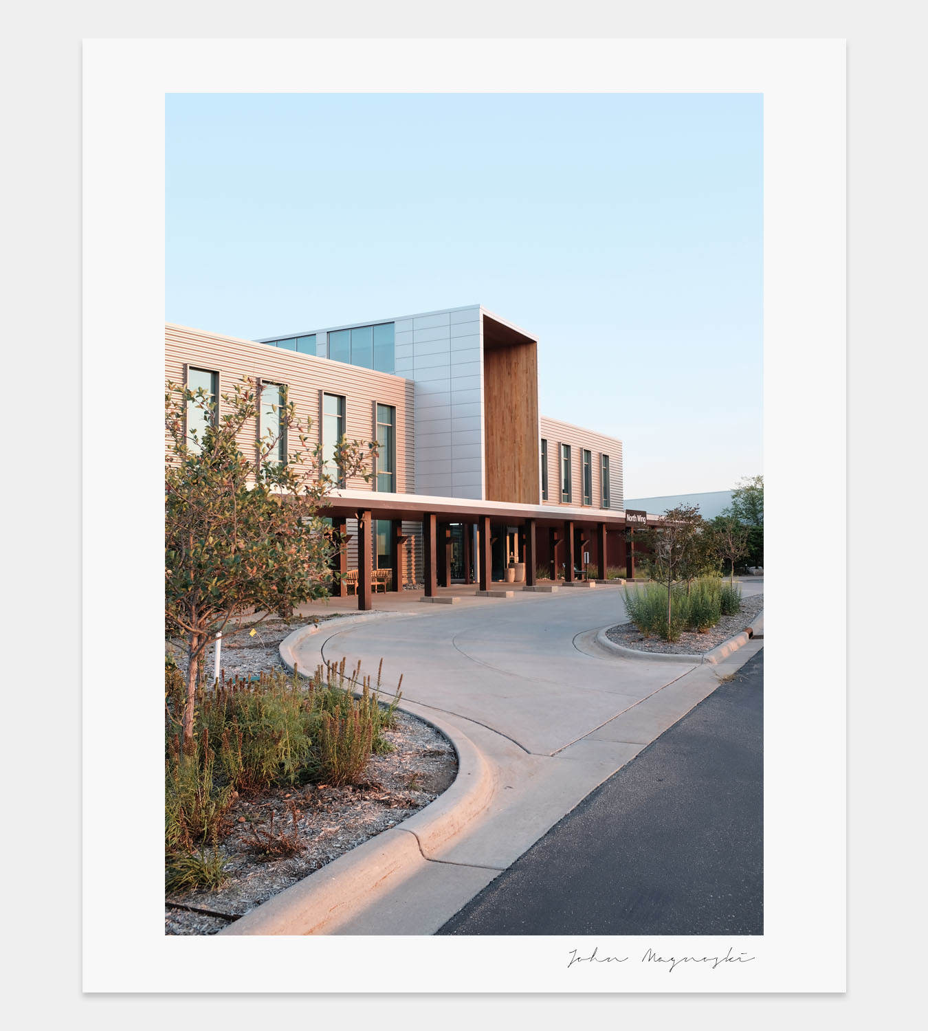 Hudson Hospital Exterior Study • Designed by  Perkins + Will