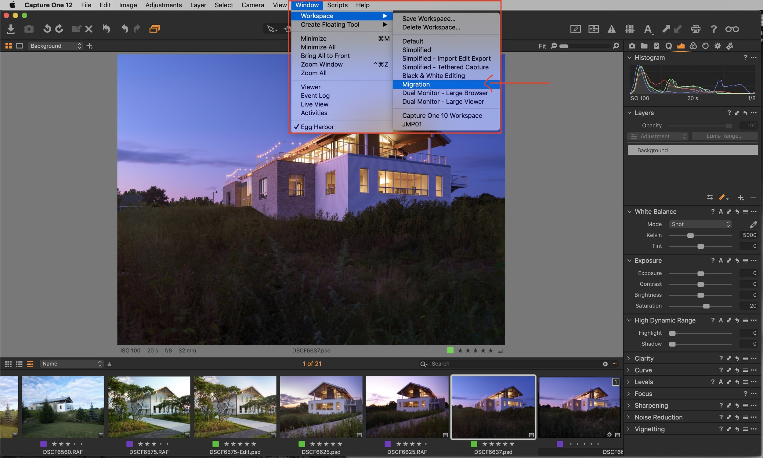 To learn more about how to customize your workspace, see the learning hub over at    Capture One   .