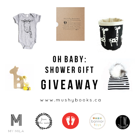 oh baby shower giveaway flatlay image