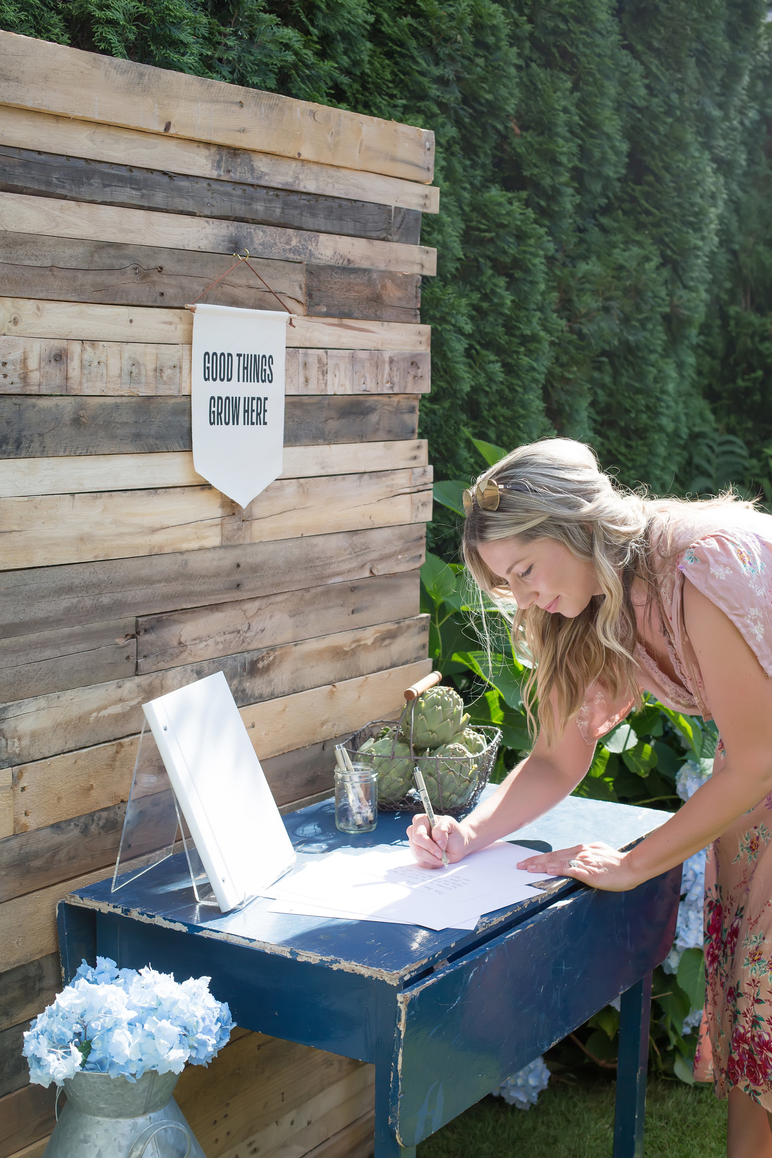 Farmers Market baby shower guest book