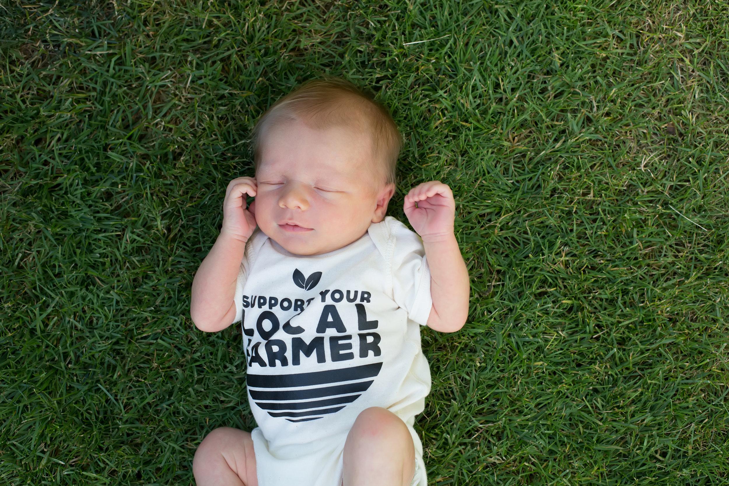 Farmers Market baby shower onesie