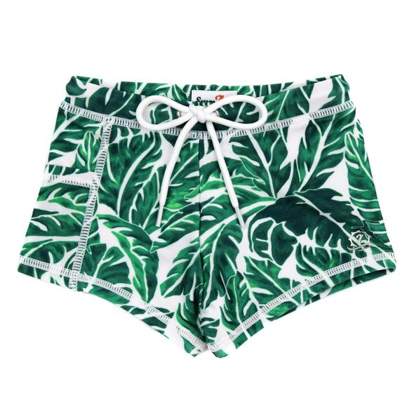 """Swim Shorties with SPF 50+ UV Sun Protection- """"Palm Leaf"""""""