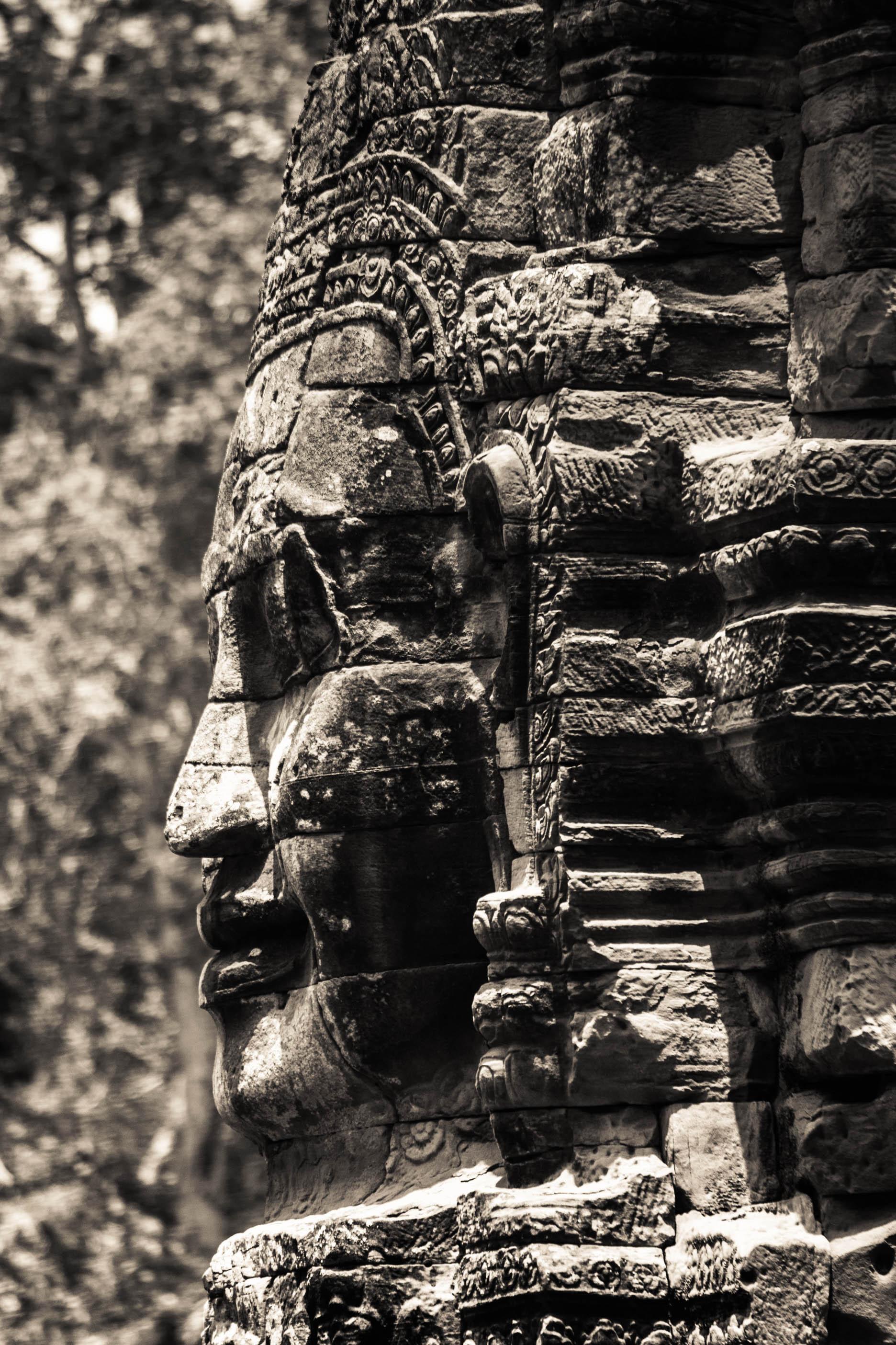 One of 216 faces of   King Avalakiteshvara.