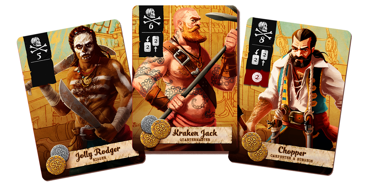 More progress on Pirate card game
