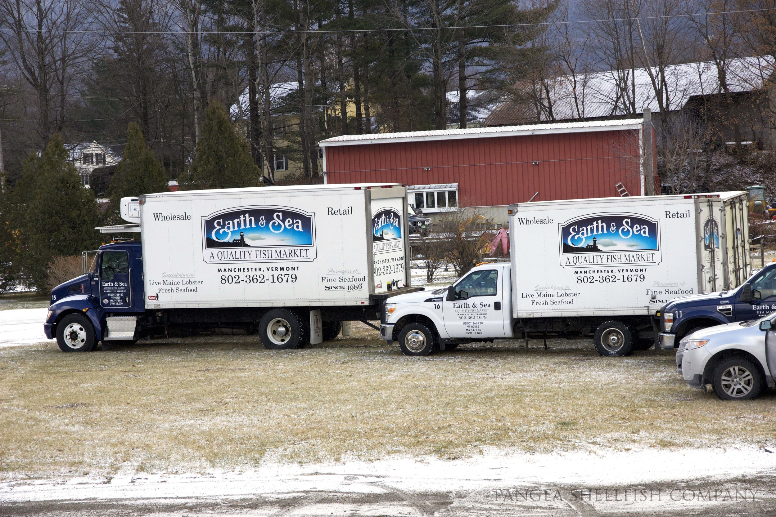 Earth & Sea have their own fleet of trucks picking up fresh oysters from our Boston shop at least twice a week.