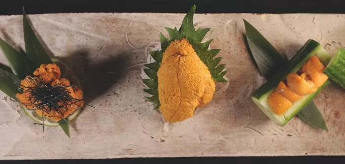 Source: Food Republic. L to R: Maine, Santa Barbara, and Hokkaido sea urchin.