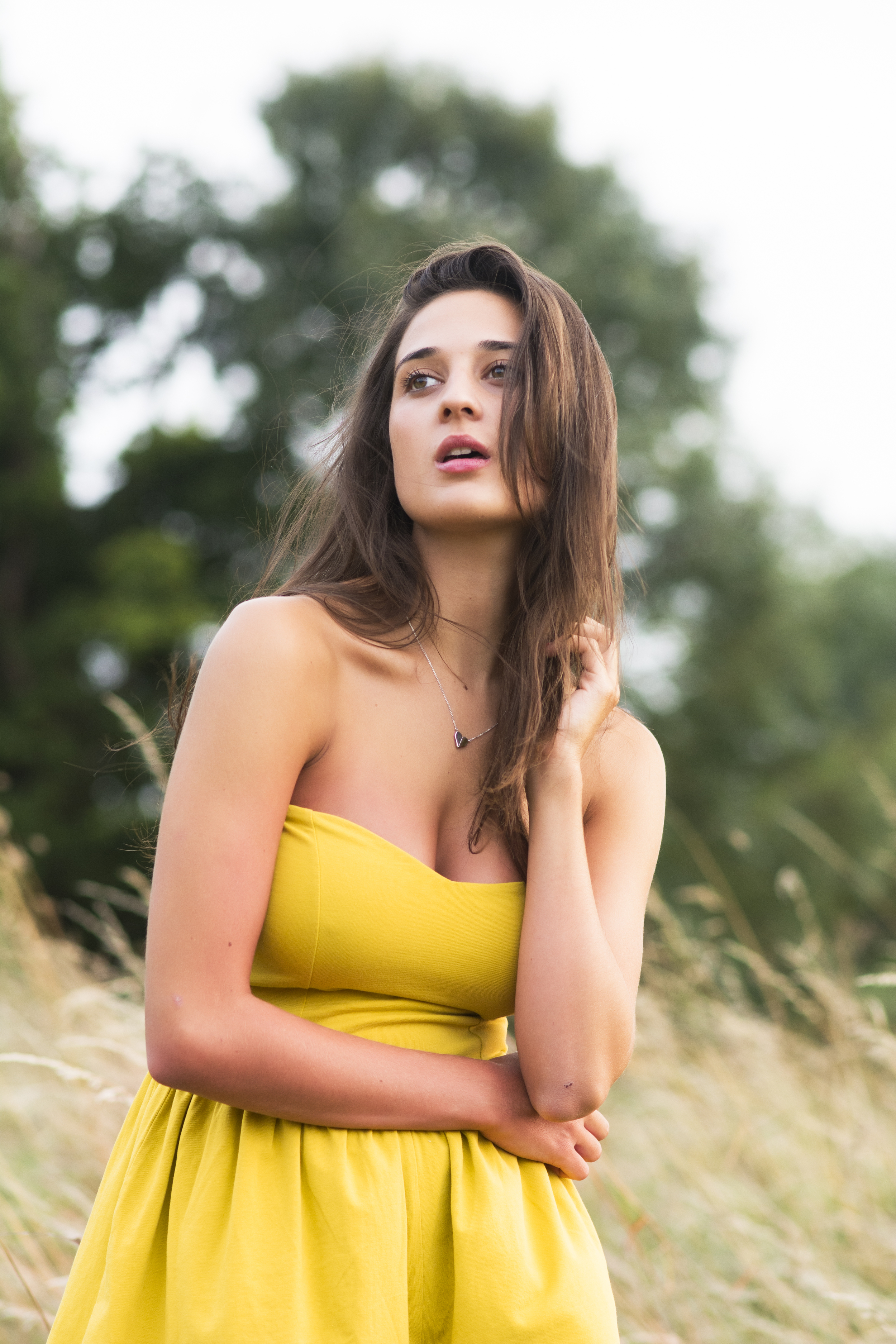 Fashion shoot in summer meadows